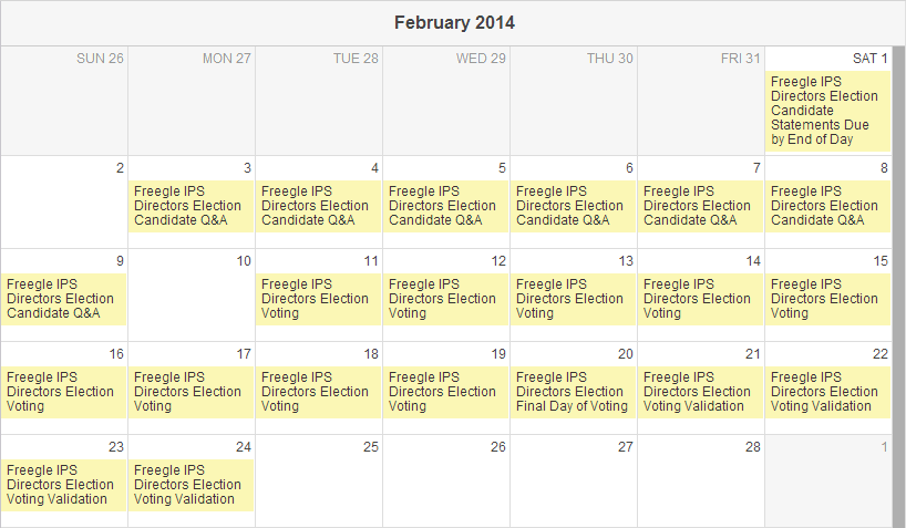 Freegle IPS Directors 2014 Elections - February Calendar.png